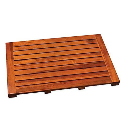 teak bathroom mat buy teak bath mat from bed bath beyond