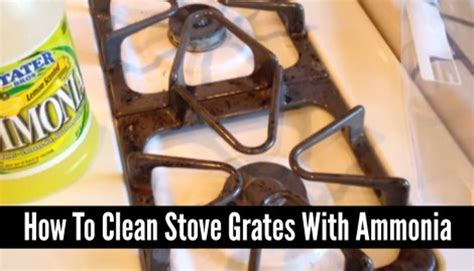 how to clean stove grates with ammonia homestead survival