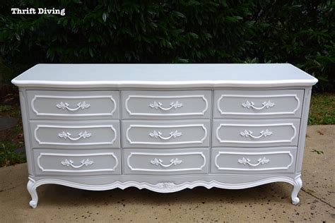 thrift store furniture makeover dresser diy dresser makeover the 40 thrifted french provincial