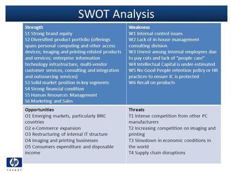 strong financial analysis hewlett packard hp strategic group analysis ppt download
