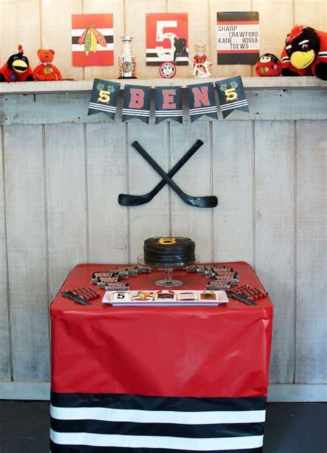 Hockey Decorations by Kara S Ideas Hockey Themed Birthday