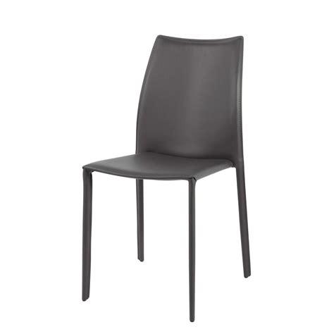 stuhl leder grau stuhl aus recyceltem leder und holz grau klint maisons