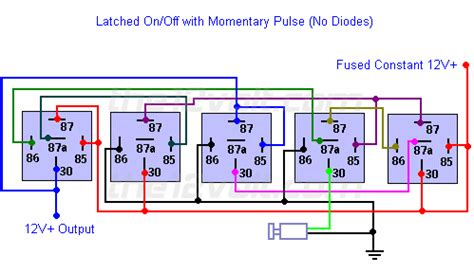 latched onoff output   single momentary negative
