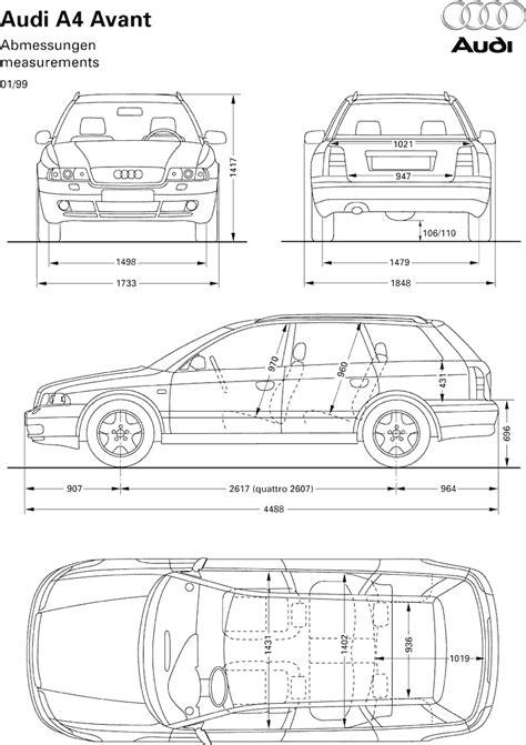 Audi A4 Avant Breite by Audi A4 Audi Pinterest Zeichnen