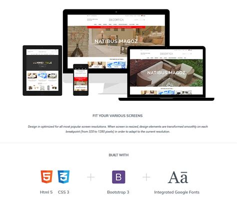 responsive layout iphone decortica responsive shopify template halothemes com