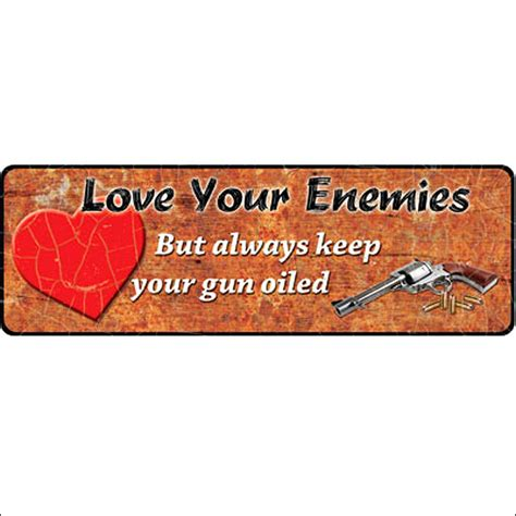 rivers edge home decor 10 5 inch x 3 5 inch rivers edge home decor your enemies large tin sign ebay