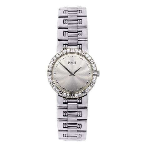 piaget 18k white gold factory bezel