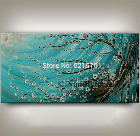 modern home decor abstract tree painting birch trees hand painted modern wall art picture home decor abstract