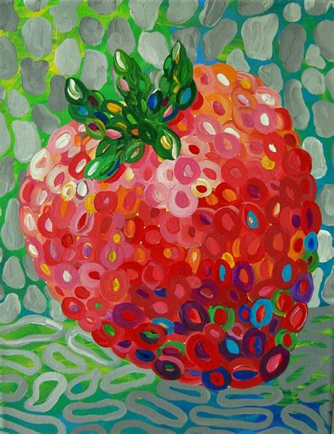 amazing canned food art 18 pieces my modern met abstract strawberry fruit painting modern by tracyhallart