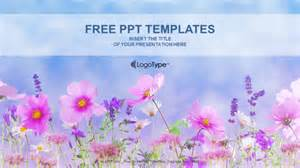 Powerpoint Nature Templates by Flower Field Nature Powerpoint Templates