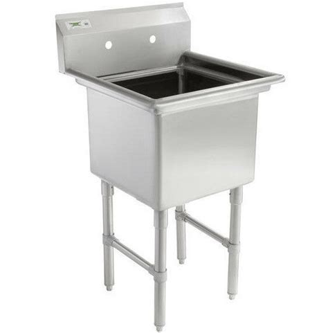 Stainless Steel Prep Sinks by 23 Quot 16 Stainless Steel One Compartment Commercial
