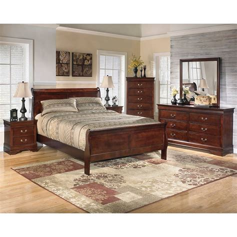 ashley furniture bedrooms alisdair queen sleigh bed 5 pc bedroom package