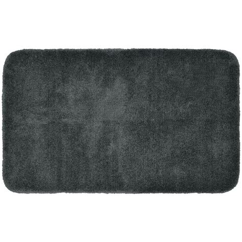 gray bathroom rugs garland rug finest luxury gray 30 in x 50 in