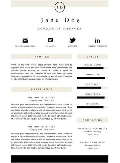 Buy A Resume Template by Clean Resume Template Buy Cv Template For Word Gemresume