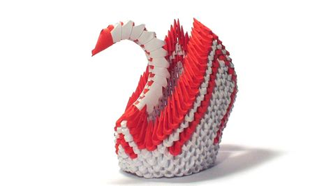 3d Origami Winged Swan Tutorial | 3d origami red winged swan tutorial youtube