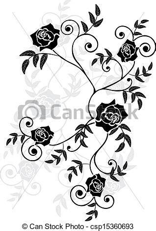vetor eps de rosas vignette vetorial ilustra 231 227 o rosas