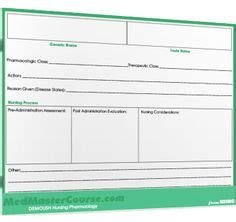 medication card template for nursing students nursing schools nursing and pharmacology on