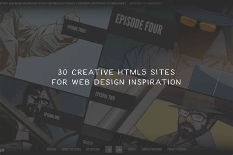 html5 layout inspiration 30 creative html5 sites for web design inspiration