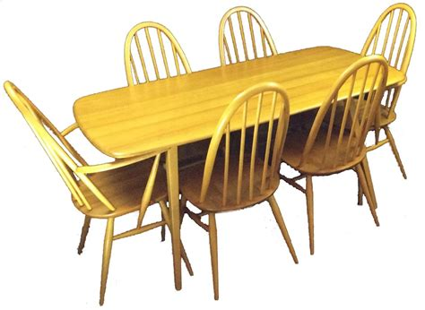 plank dining table and chairs ercol plank dining table and 6 quaker chairs in sold recently