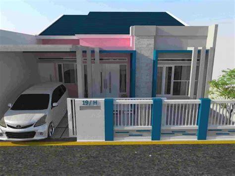 wallpaper rumah biru warna cat rumah minimalis tak depan dan bagian dalam