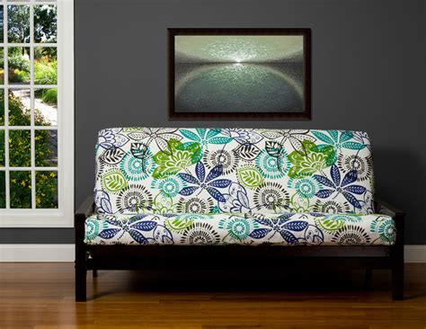 tropical futon covers sleep concepts mattress futon factory amish rustics