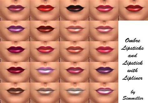 Of The Best Shades Of Lipstick by Mod The Sims 21 New Shades Of Lipstick Ombre And With