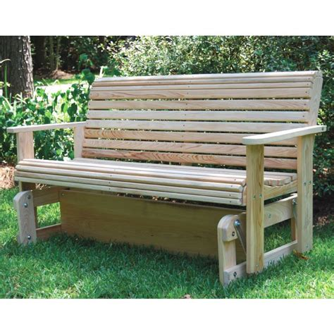 patio swings and gliders la swings solid cypress wooden gliding bench