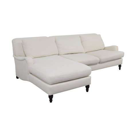 pottery barn carlisle sofa 69 off pottery barn pottery barn carlisle white chaise