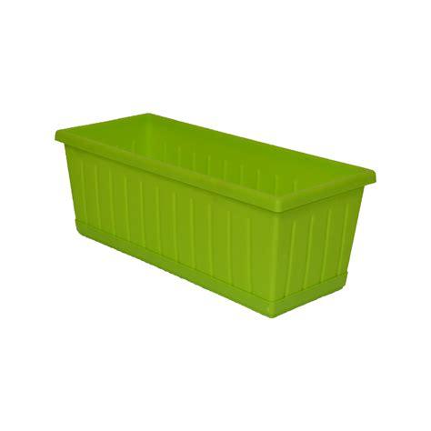 vaso rettangolare plastica vaso balconella rettangolare verde cm 60x17x15