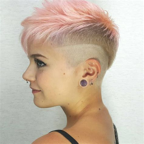 how to cut female hair with short sides and long top 266 best hair pixie buzz cuts short hair images on
