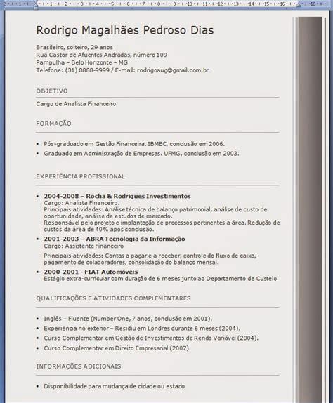 Modelo De Curriculum 2014 España Central Professor Pacote Exerc 237 Cios Word Avan 231 Ado Formata 231 227 O De Curr 237 Culos Abnt Parte 3