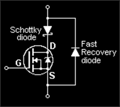 schottky diode forward recovery time the mosfet diode 네이버 블로그