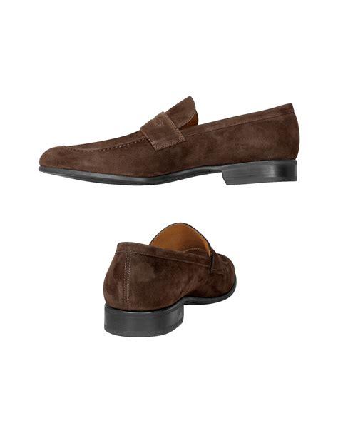 moreschi loafers lyst moreschi izmir brown suede loafers in brown