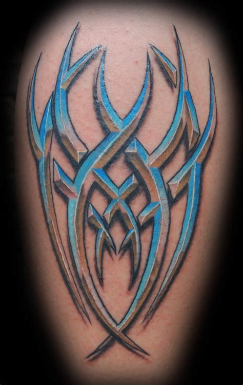 tattoo 3d tribal chrome tribal by joshing88 on deviantart