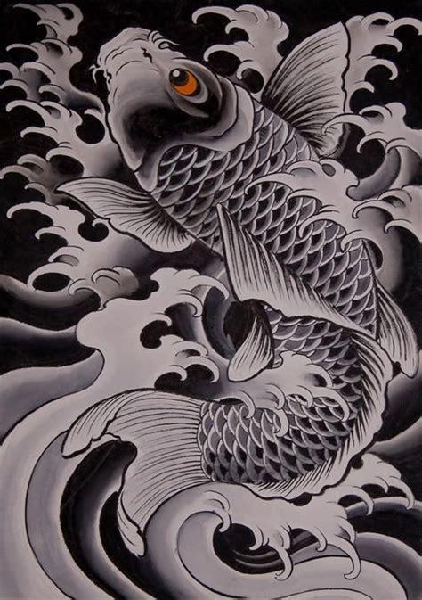 koi tattoo chris garver doigts noir et blanc and poisson on pinterest