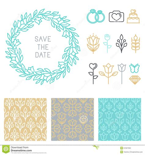 save the date design template vector save the date design template stock vector image