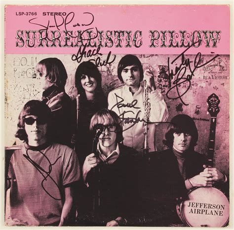 Jefferson Airplane Surrealistic Pillow by Lot Detail Jefferson Airplane Signed Quot Surrealistic