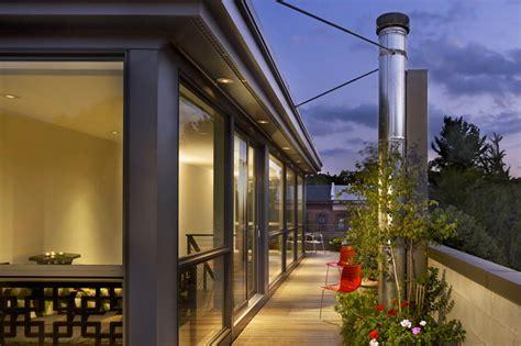 Modern Townhouse Design With Rooftop Garden By Brett | modern townhouse design with rooftop garden by brett