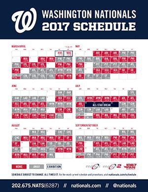 printable schedule washington nationals printable schedule washington nationals