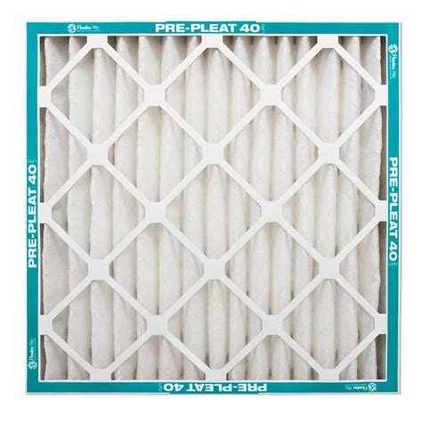 Filter Clik I flanders precisionaire 25 in x 25 in x 1 in pre pleat 40 air filter of 12 80055 012525