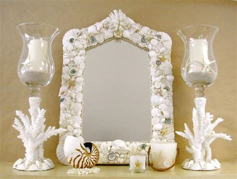 seashell home decor enhancing nautical decor theme with sea shell crafts and