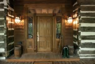 Log Home Lighting Design North Georgia Log Cabin Front Door
