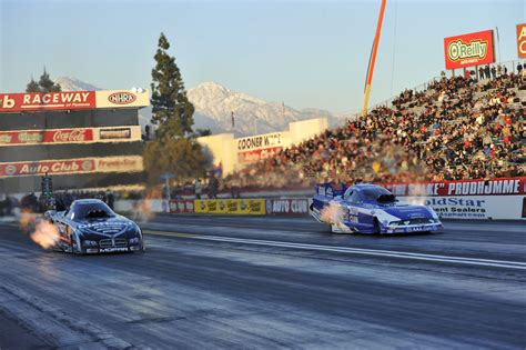 winter nationals john force racing beats hagan in pomona again hight wins