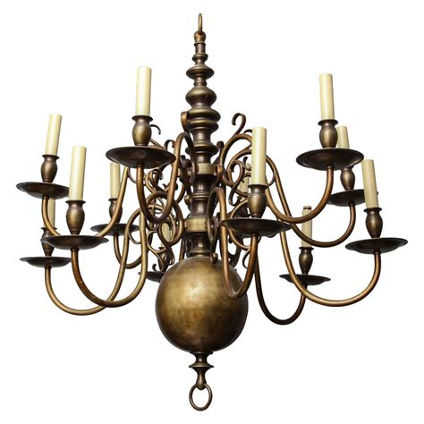 Baroque Chandelier A 12 Light Baroque Style Chandelier At 1stdibs