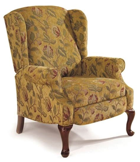 high leg wingback recliner heathgate wingback high leg recliner chair by lane home