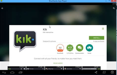 kik messenger apk free bluestacks in windows 8 49k