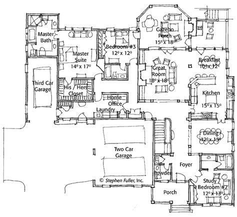 One Story Open Floor Plans Tudor Style One Story Single Story Tudor House Plans