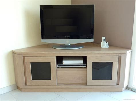 Meuble Tv D Angle Contemporain by Meuble Tv Hifi Sur Mesure En Massif Style Contemporain