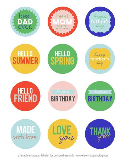 jar tags template 269 best images about tags and other free stuff on