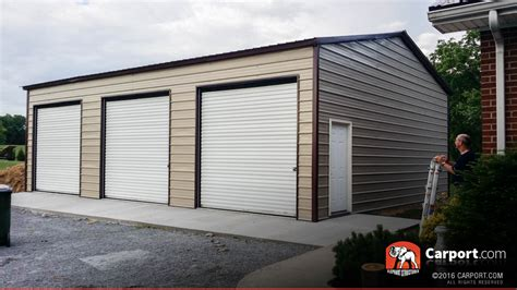 pictures of 3 car garages commercial three car garage at 18 wide x 31 long x 10